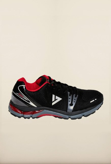 Seven Black & Red Running Shoes