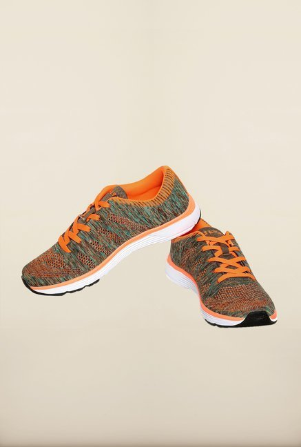 Seven Grey & Neon Orange Running Shoes