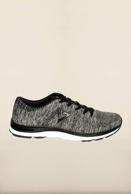 Seven Black & Grey Running Shoes