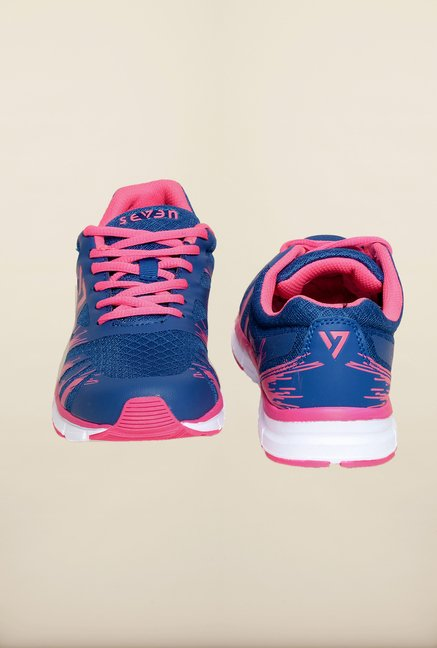 Seven Blue & Neon Pink Training Shoes