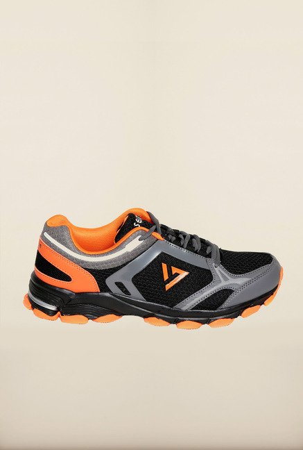Seven Black & Orange Running Shoes