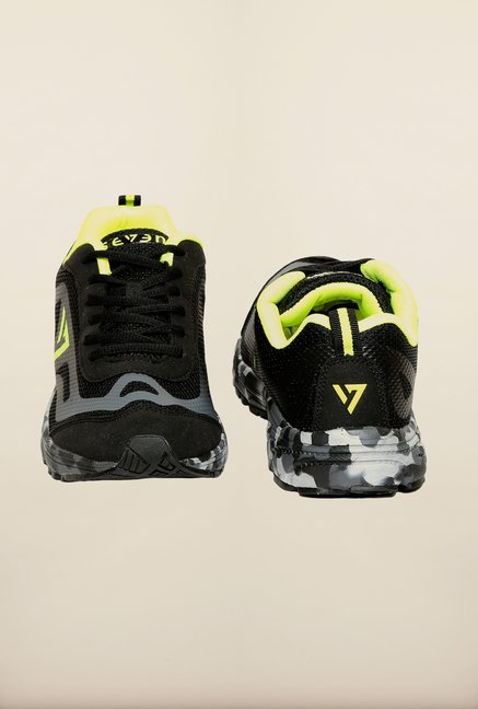 Seven Black & Lime Running Shoes