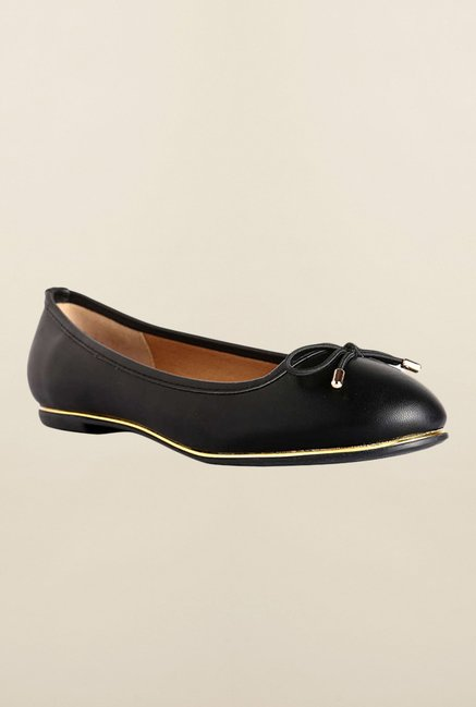 Allen Solly Black Ballerina Shoes