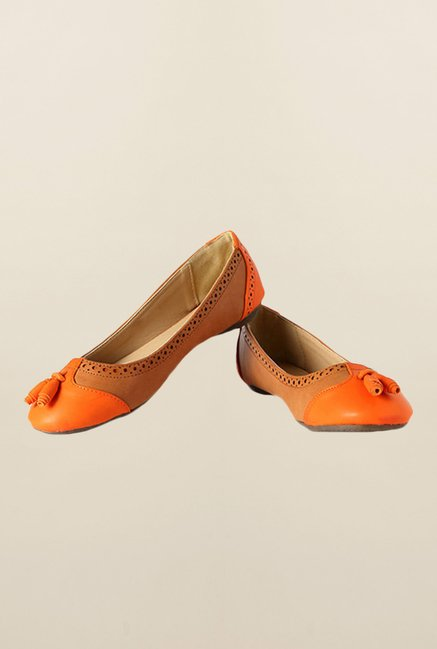 Allen Solly Orange & Brown Casual Shoes