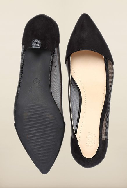 Allen Solly Black Kitten Heel Pumps