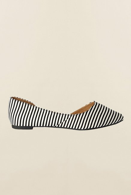Van Heusen Black & White D'orsay Shoes