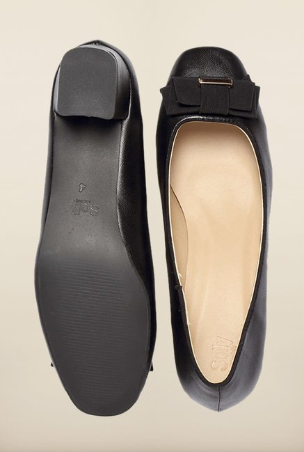 Allen Solly Black Block Heel Pumps