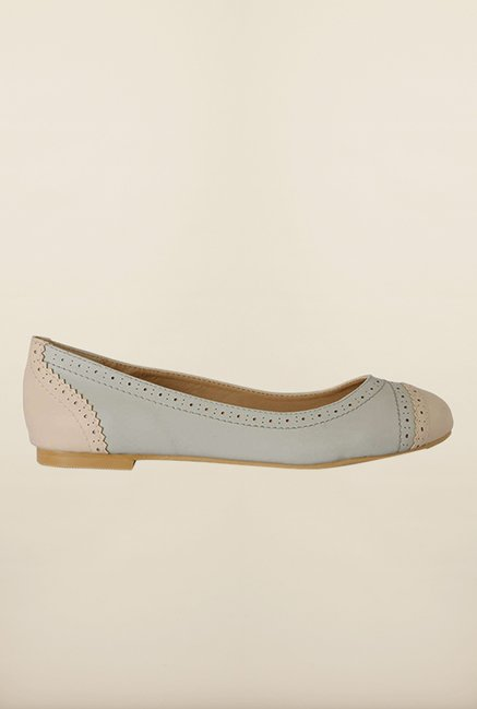 Allen Solly Light Blue & Beige Ballerinas