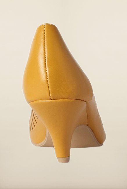 Allen Solly Dark Yellow Peep Toe Shoes