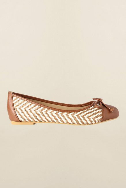 Allen Solly Brown Casual Ballerinas