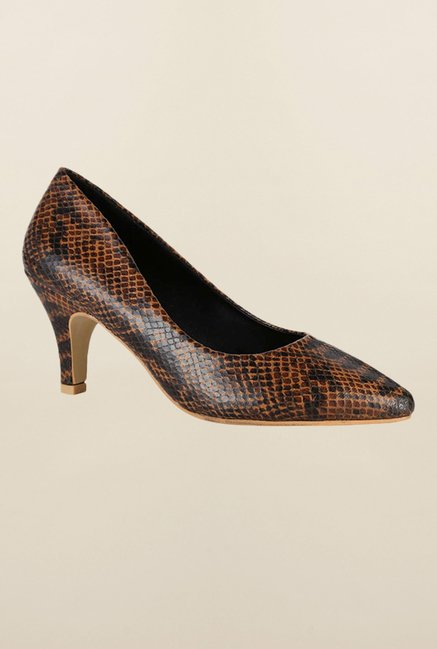 Van Heusen Brown Kitten Heel Shoes