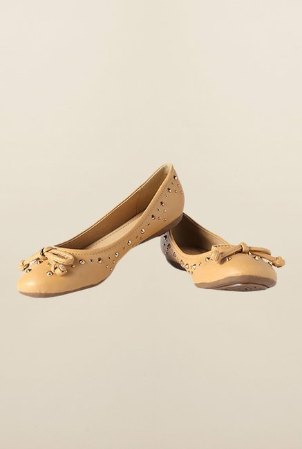 Allen Solly Beige Casual Ballerina Shoes