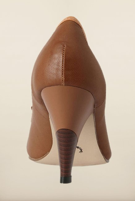 Allen Solly Brown Kitten Heel Shoes