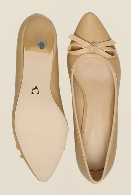 Allen Solly Beige Kitten Heel Shoes
