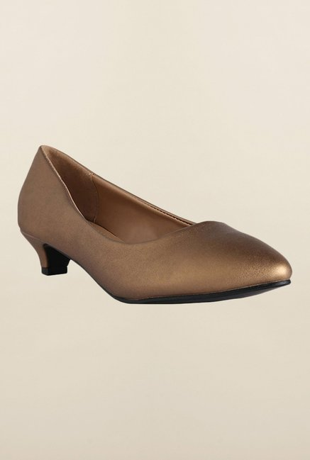 Allen Solly Bronze Kitten Heel Shoes