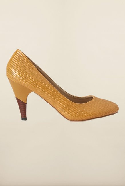 Allen Solly Brown Cone Heel Pumps