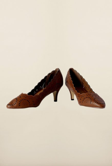 Allen Solly Brown Kitten Pumps