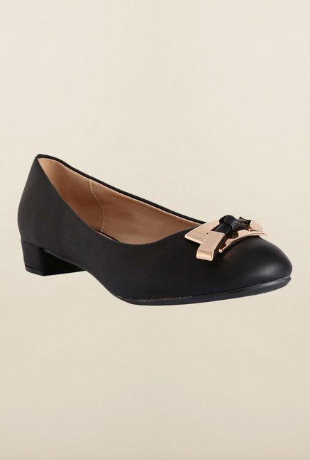 Allen Solly Black Block Heel Shoes