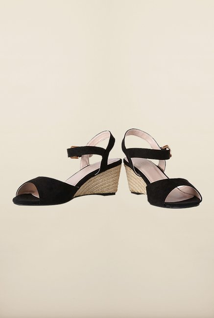 Van Heusen Black Casual Wedges