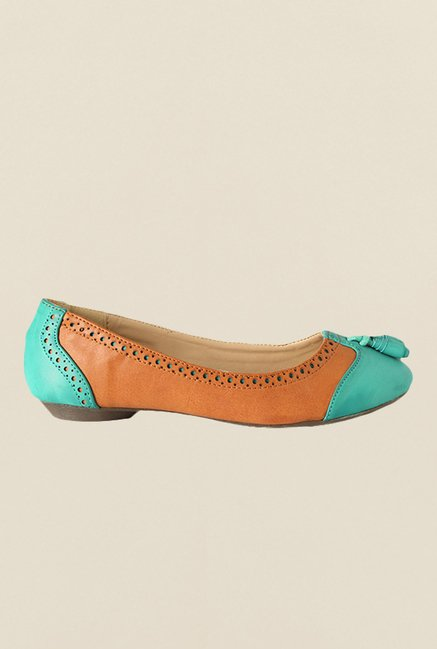 Allen Solly Turquoise & Brown Pump Shoes