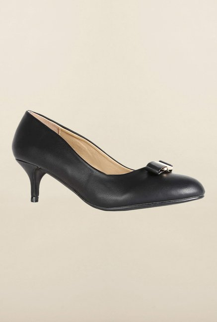 Allen Solly Black Kitten Heel Shoes