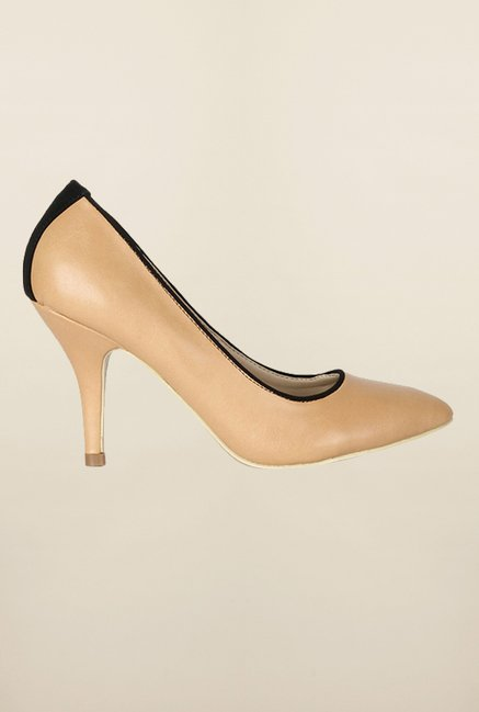 Allen Solly Beige Stiletto Heel Shoes