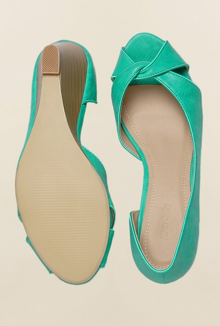 Allen Solly Turquoise D'orsay Wedges