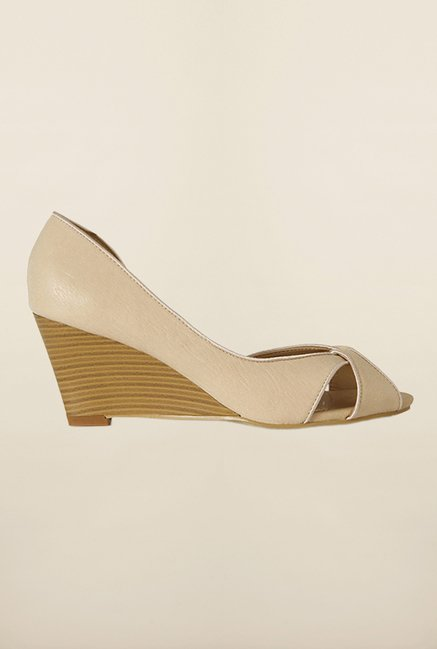 Allen Solly Beige D'orsay Wedges