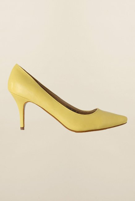 People Yellow Casual Stiletto Shoes