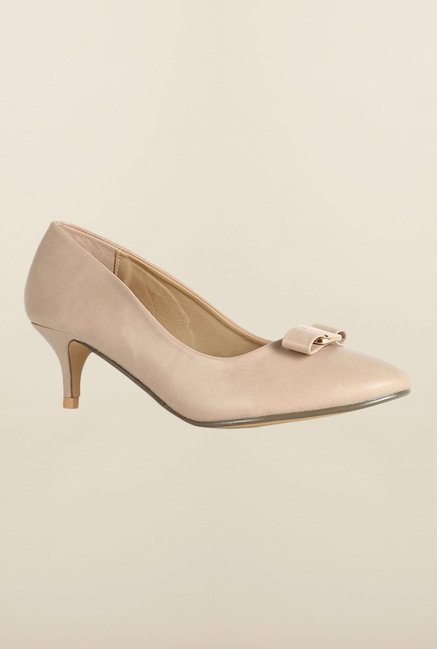Allen Solly Beige Kitten Heel Pumps