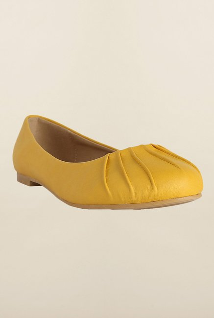 Allen Solly Yellow Flat Ballerinas