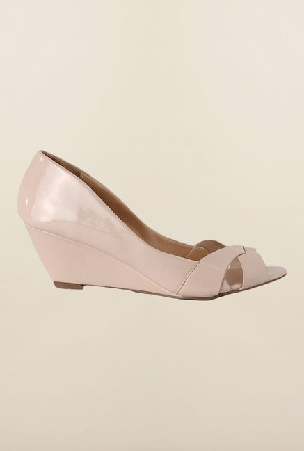 People Beige Wedge Shoes