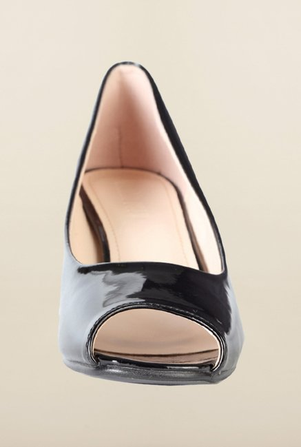 Van Heusen Black Peep Toe Shoes