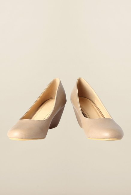 Allen Solly Beige Pump Wedges