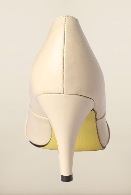Van Heusen Beige Peep Toe Shoes