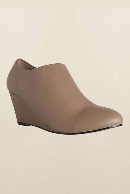 Allen Solly Brown Wedge Heel Shoes