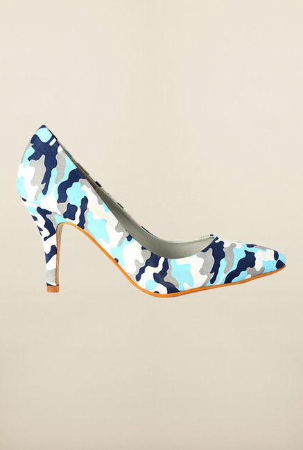 Van Heusen Blue & White Stiletto Shoes