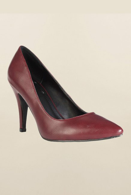 Van Heusen Maroon Stiletto Shoes
