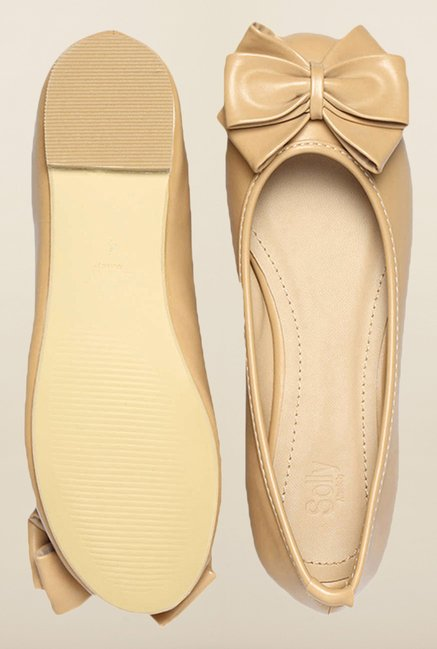 Allen Solly Beige Ballerina Shoes