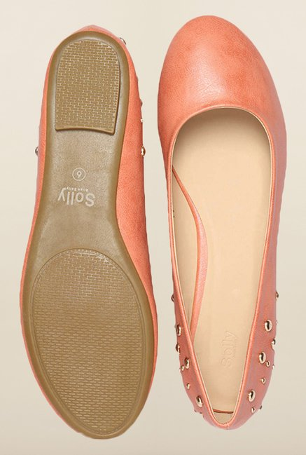 Allen Solly Peach Flat Ballerina Shoes