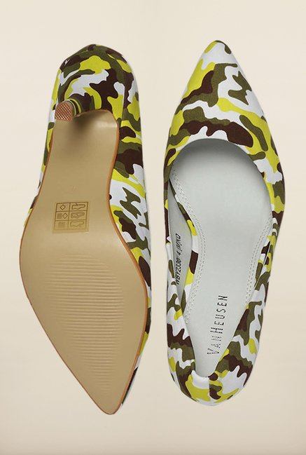 Van Heusen Yellow & White Stilettos