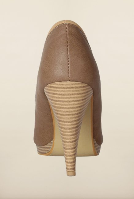 Allen Solly Brown Peep Toe Shoes
