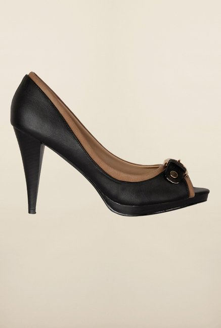 Allen Solly Black Peep Toe Shoes