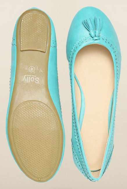 Allen Solly Turquoise Flat Casual Ballerinas