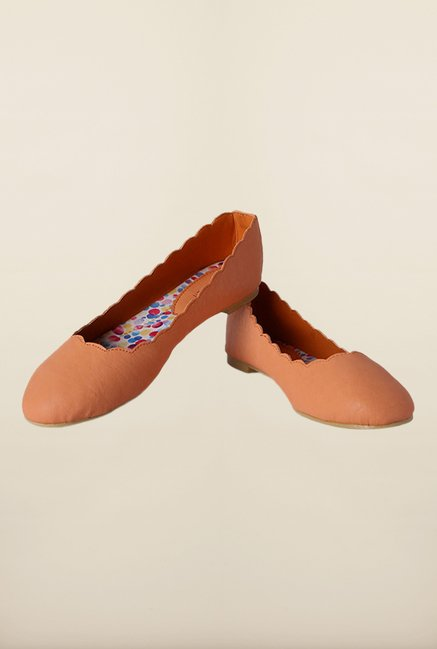 Van Heusen Orange Flat Ballerinas