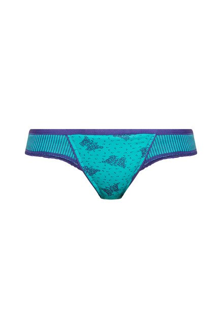 Enamor Teal Printed Briefs