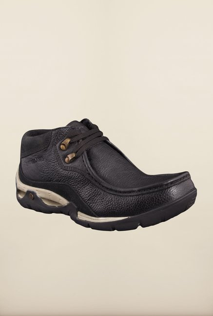 1330d31ab18 Buy Woodland Black Casual Shoes Online at best price at TataCLiQ