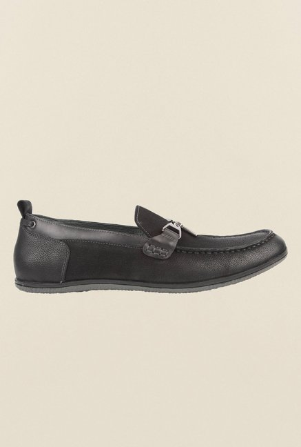 Cobblerz Black Leather Loafers