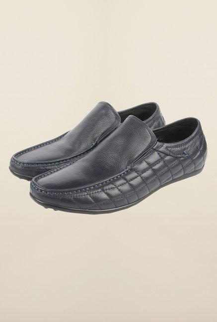 Cobblerz Blue Leather Loafers