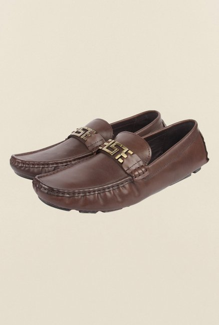 Cobblerz Coffee Leather Casual Shoes